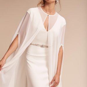 BHLDN sheer wedding cape in white — worn once!